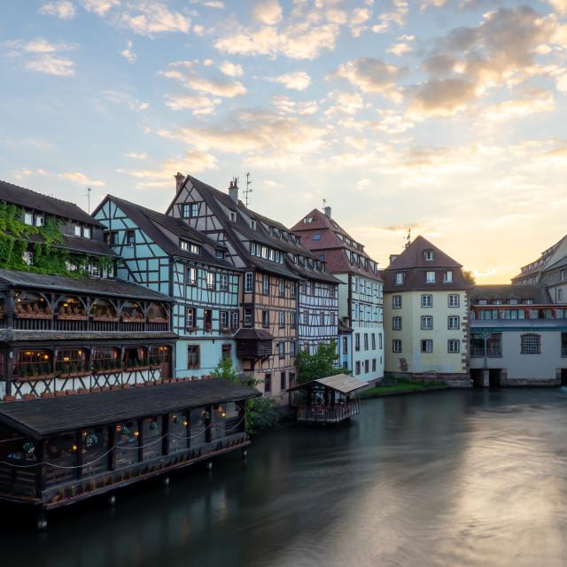 """Tourist area ""Petite France"" in Strasbourg"" stock image"