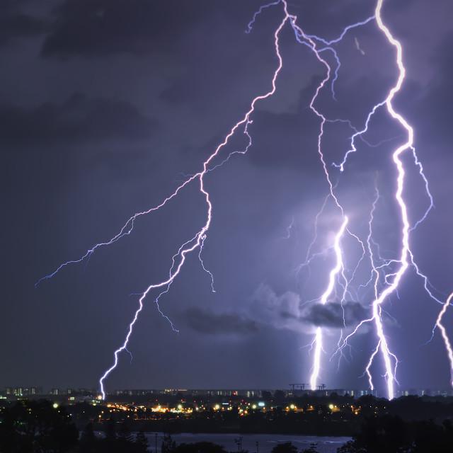 """""""Seletar Lights III"""" stock image"""