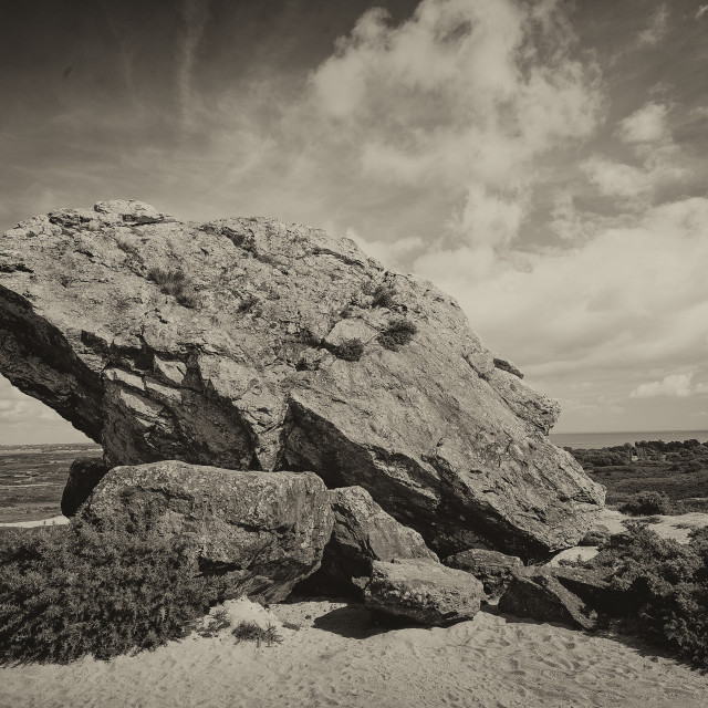"""The Agglestone, Godlingston Heath, Dorset"" stock image"