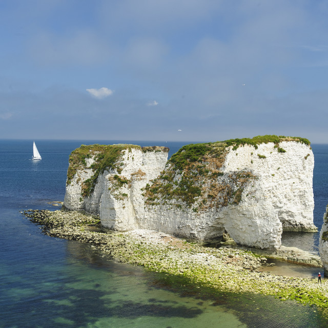"""Old Harry Rocks, Studland, Dorset"" stock image"