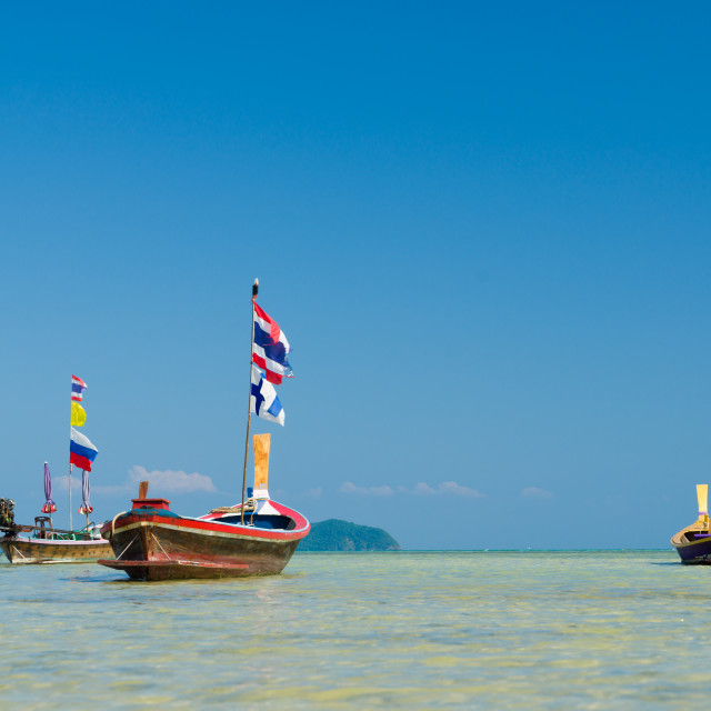 """""""Traditional thai longtail boat in Thailand"""" stock image"""