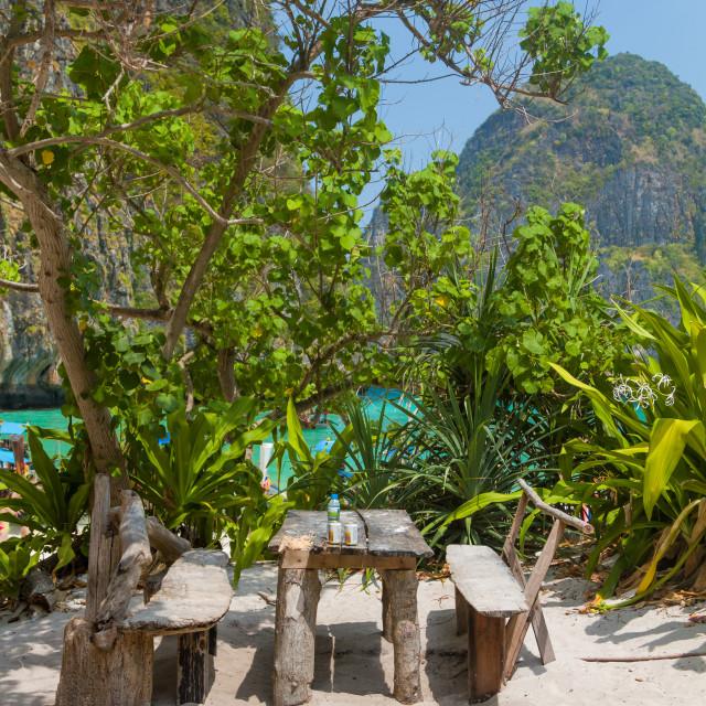 """Maya bay of Phi-Phi island"" stock image"