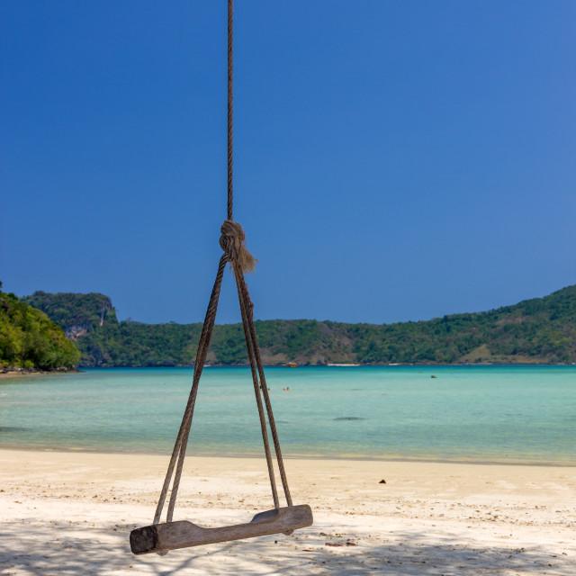 """View on Phi Phi island beach"" stock image"