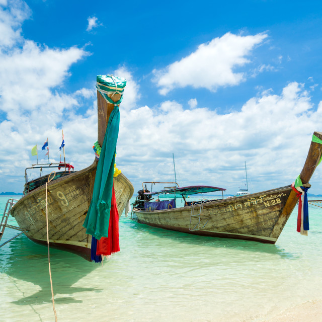 """""""Traditional long-tail boat in Thailand"""" stock image"""