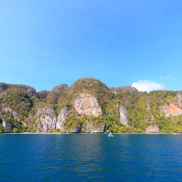 """Beautiful bay of Phi Phi island Thailand"" stock image"