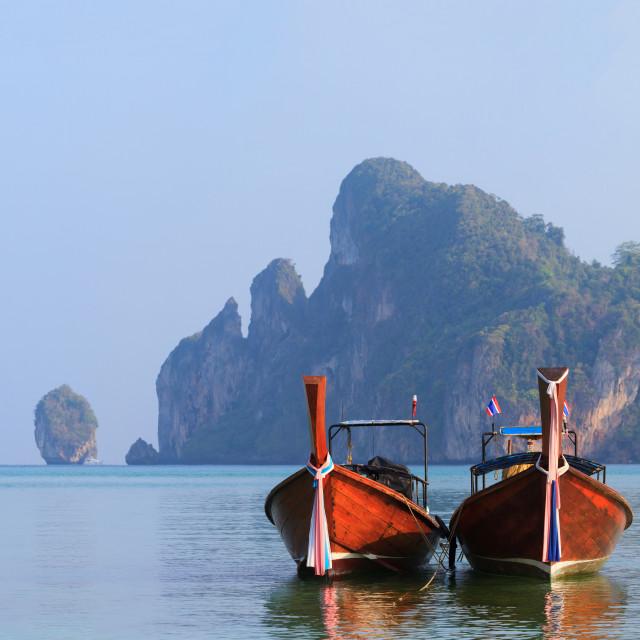 """""""Boat in Phuket Thailand"""" stock image"""