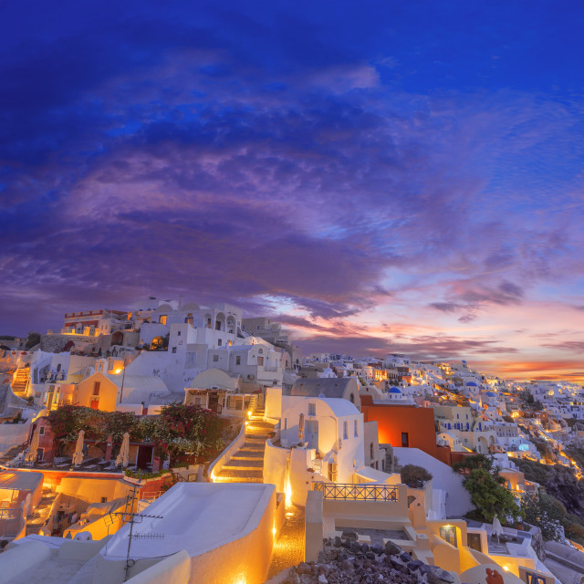 """Old Town of Oia or Ia on the island Santorini"" stock image"