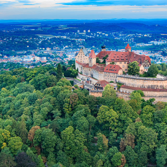 """The Veste Coburg fortress"" stock image"