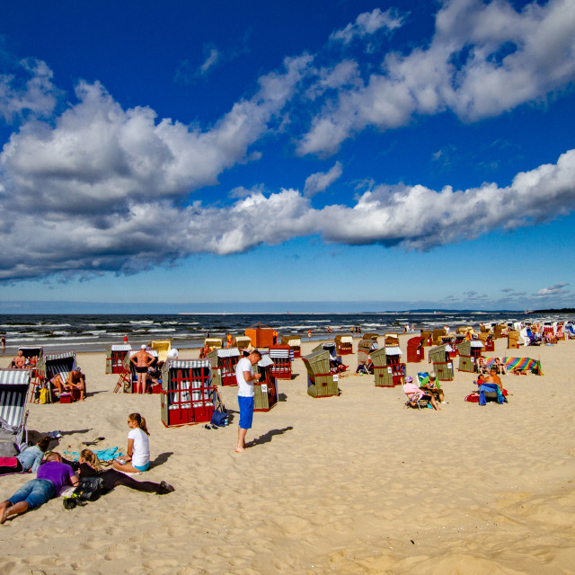"""""""Swinoujscie Beach, Poland, a Leisure and Sporting Attraction for Visiting Holidaymakers"""" stock image"""