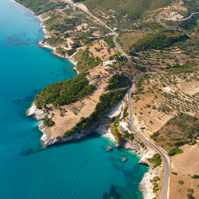 """""""the island of Zakynthos Greece from the air"""" stock image"""
