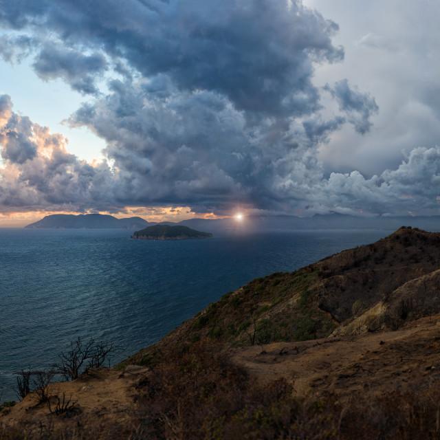 """View on Zakynthos island"" stock image"