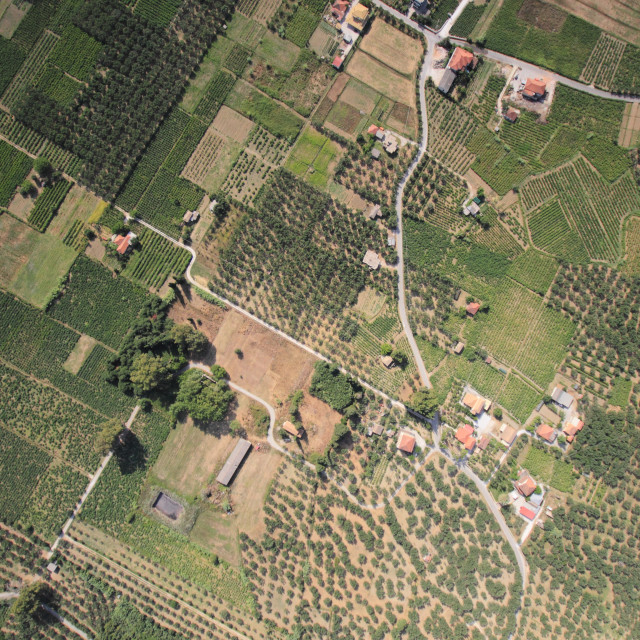 """Aerial view on Zakynthos island"" stock image"