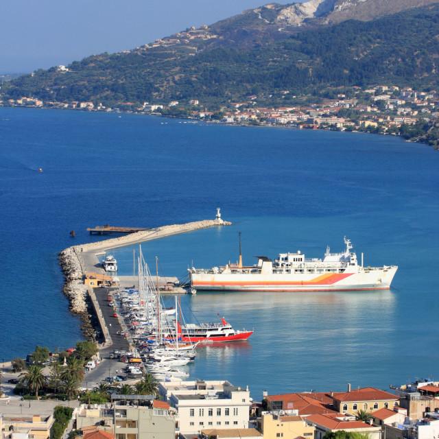 """The city Zakynthos on the island Zakynthos, Hellenic Republic"" stock image"
