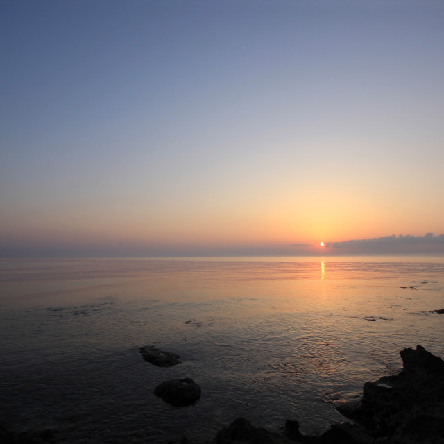 """""""Sunrise over the Ionian sea"""" stock image"""