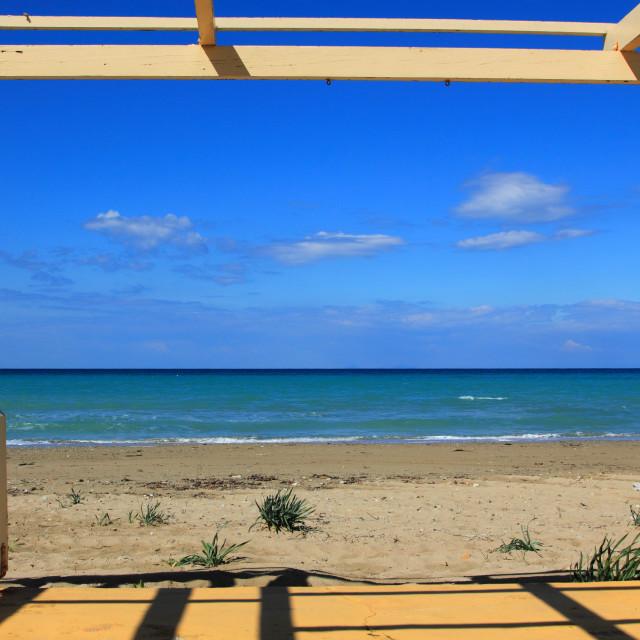 """Tsilivi beach Zakynthos"" stock image"