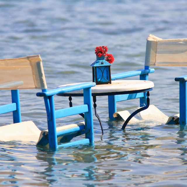 """""""Table in the sea"""" stock image"""