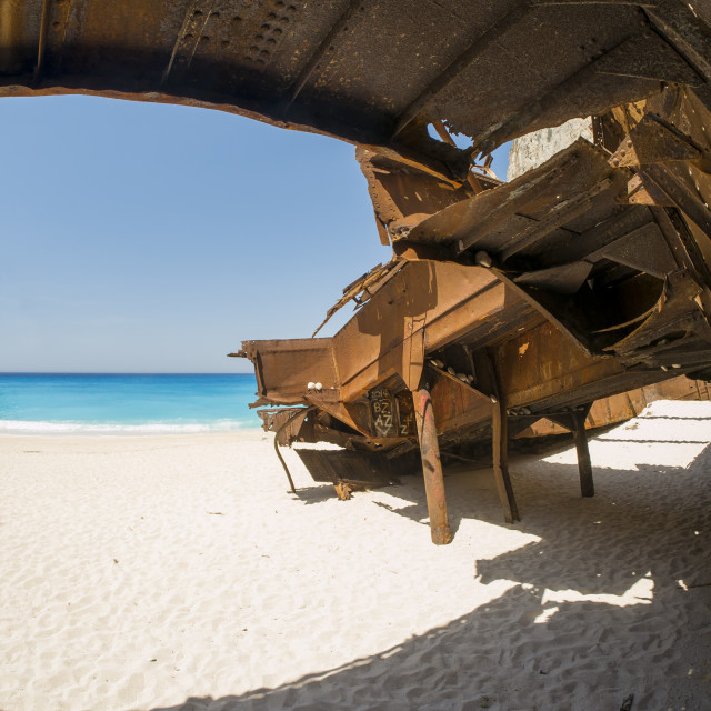 """The famous Navagio Shipwreck beach in Zakynthos island"" stock image"
