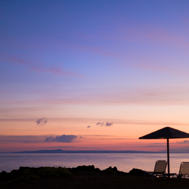 """The beach of Vassilikos in Zakynhtos Greece"" stock image"