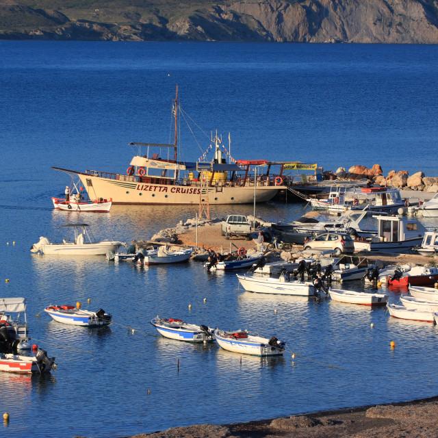 """Harbor of Laganas Zakynthos Greece"" stock image"