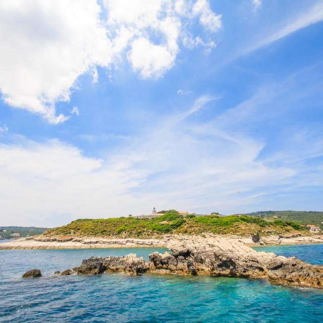 """Paxos island Greece"" stock image"
