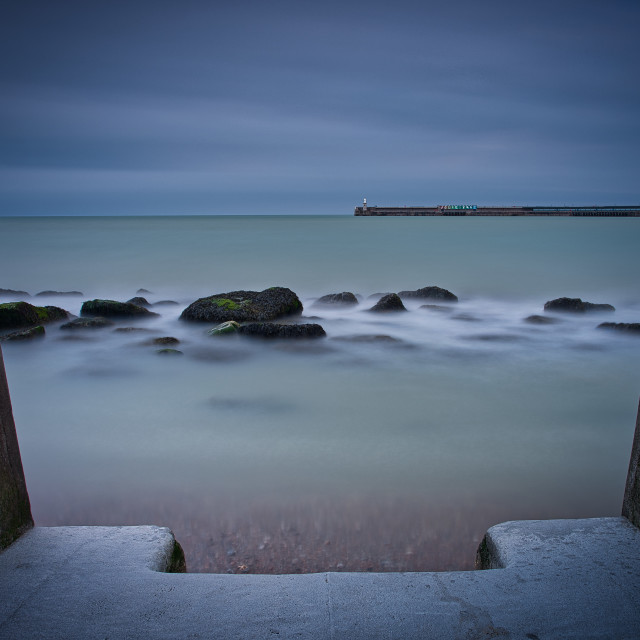 """Sunnysands beach, Folkestone."" stock image"