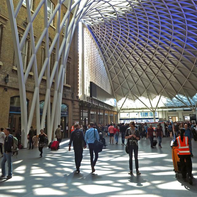 """King's Cross Station"" stock image"