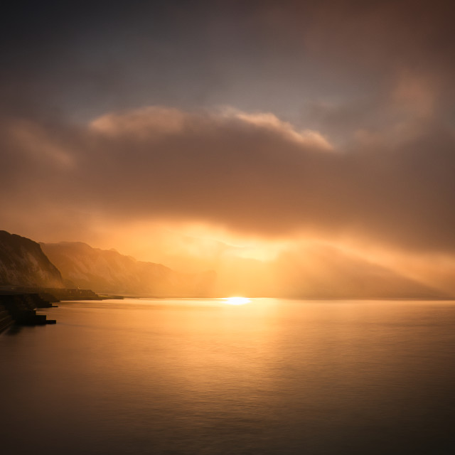 """Folkestone Warren Sunrise"" stock image"