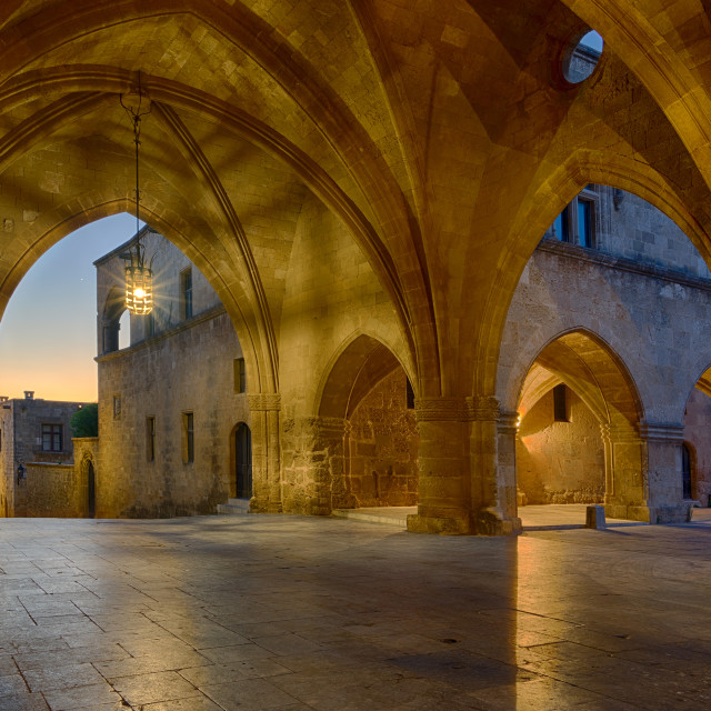 """""""streets of the Knights in the old town of Rhodes"""" stock image"""
