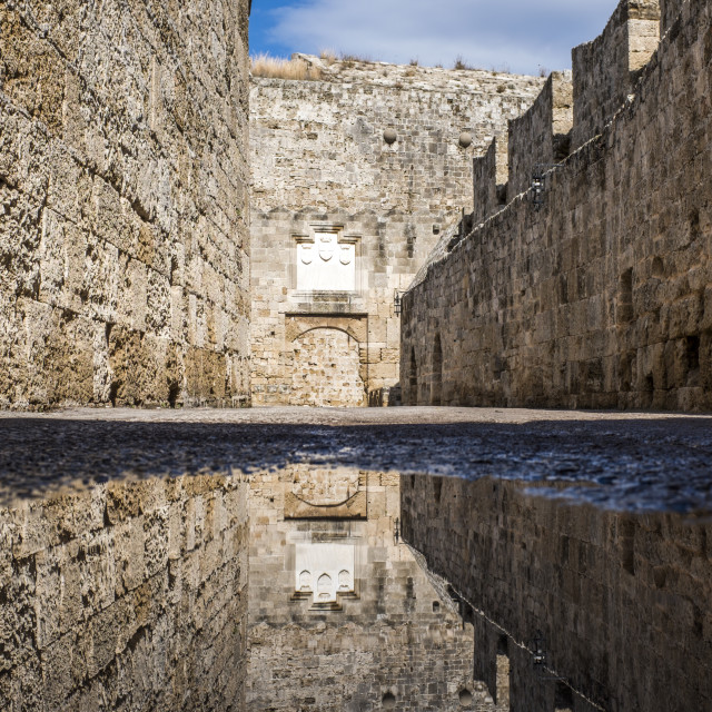 """""""The old town of Rhodes in Greece"""" stock image"""