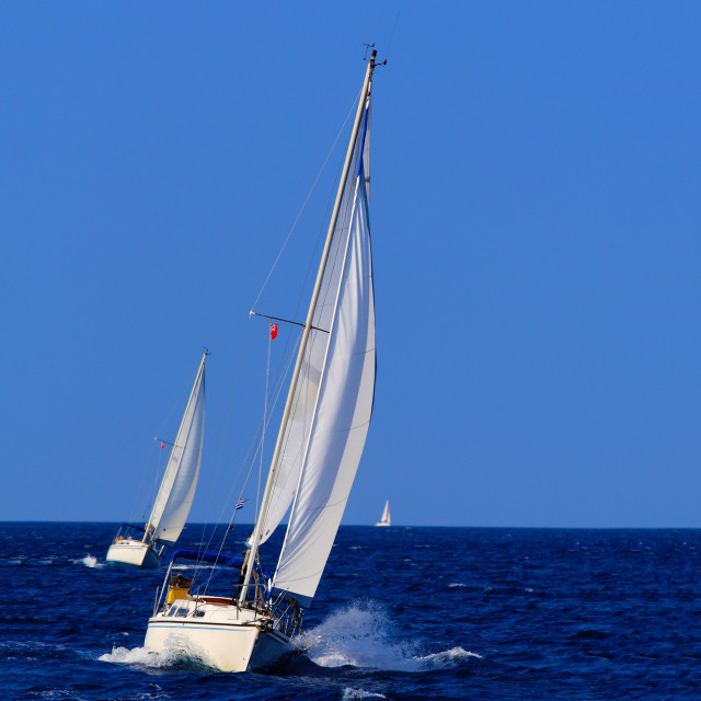 """""""Sailing in Greece"""" stock image"""