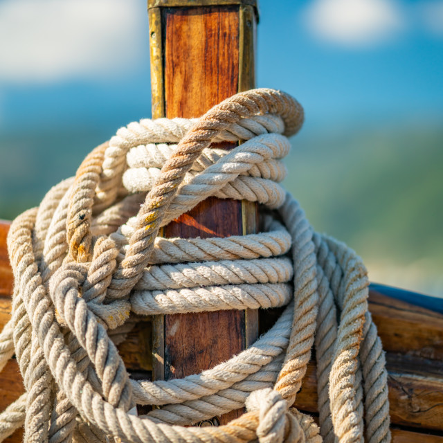"""Sailing in the Ionian sea in Lefkada"" stock image"