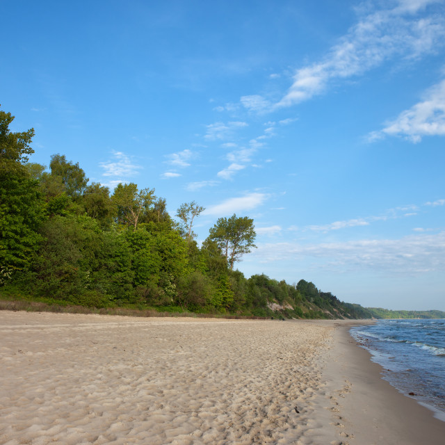 """""""Beach at Baltic Sea in Poland"""" stock image"""