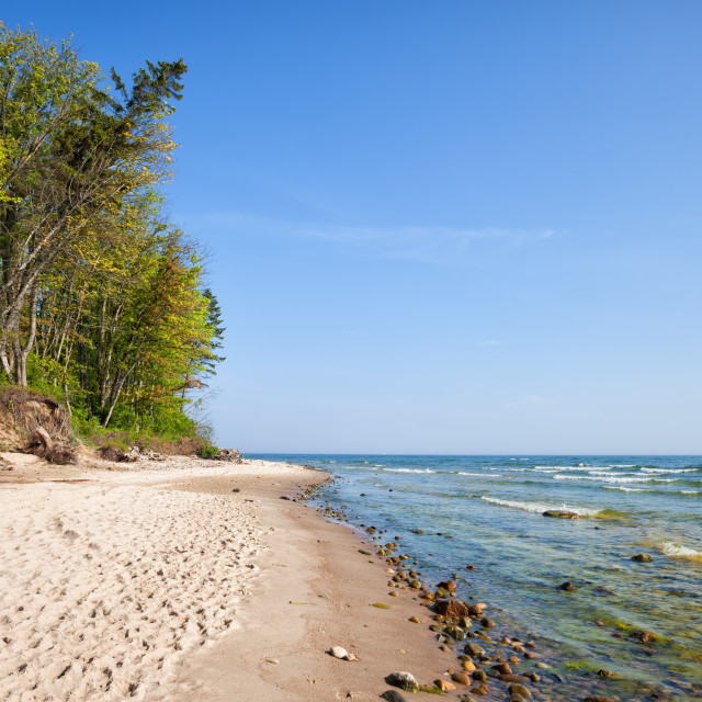 """""""Rozewie Beach at Baltic Sea in Poland"""" stock image"""