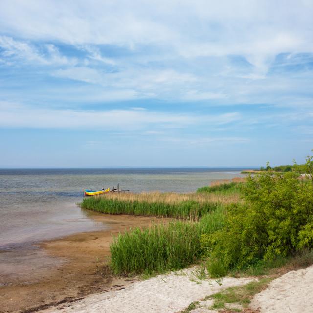 """Puck Bay Shore on Hel Peninsula in Jastarnia"" stock image"