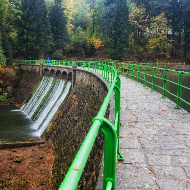 """Dam on Lomnica River in Karpacz"" stock image"