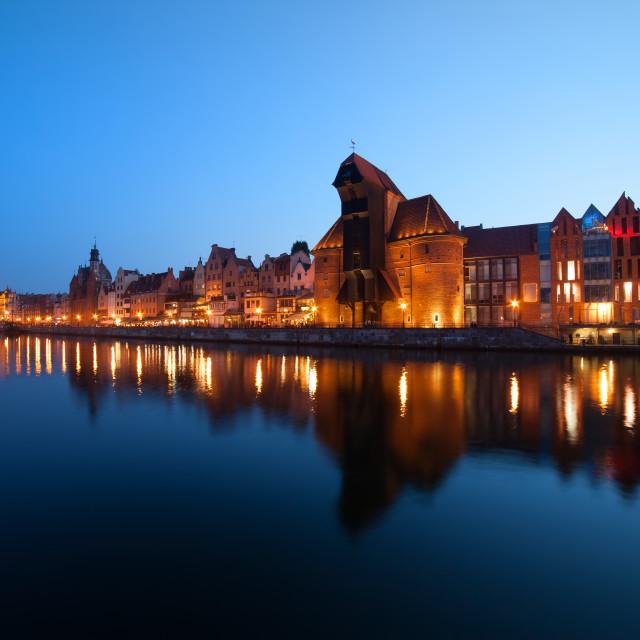 """""""Evening City Skyline of Gdansk"""" stock image"""