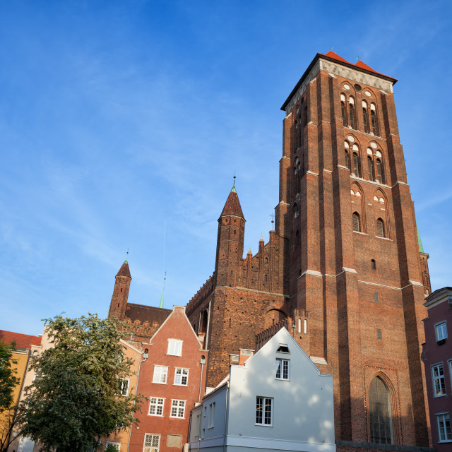 """""""St. Mary Church in Gdansk"""" stock image"""