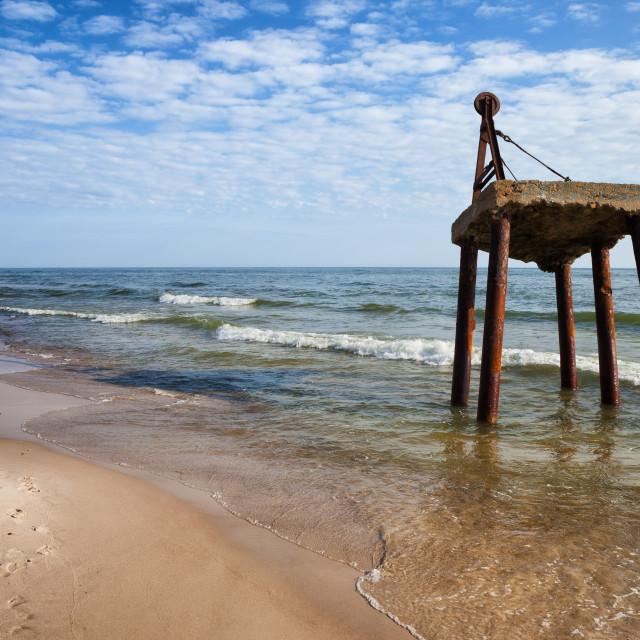 """Baltic Sea Shore in Poland"" stock image"