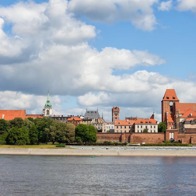 """City Of Torun From Vistula River"" stock image"