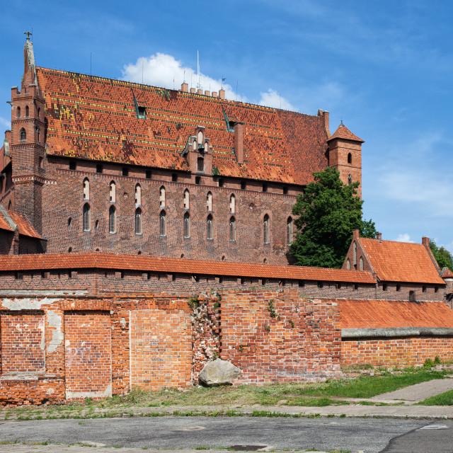 """Malbork High Castle"" stock image"