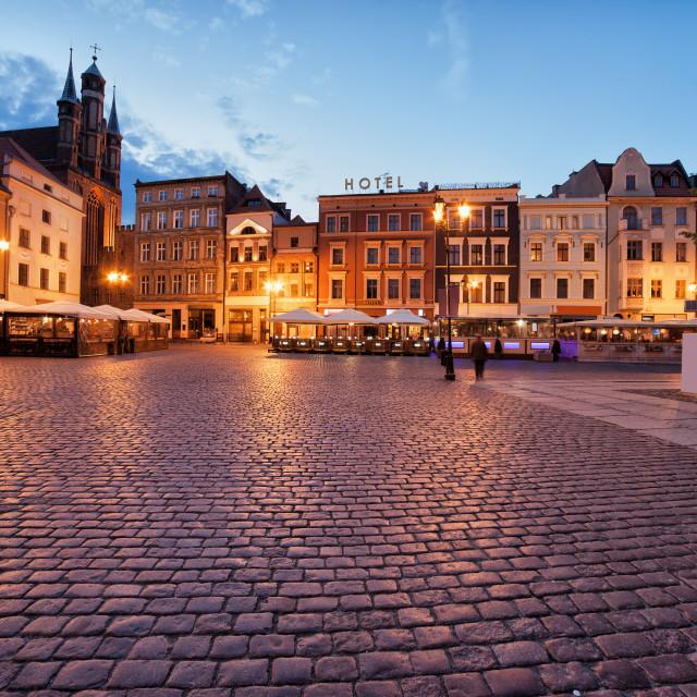 """Old Town Market Square in Torun"" stock image"