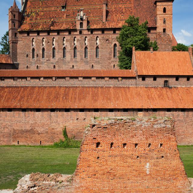 """High Castle of Malbork"" stock image"