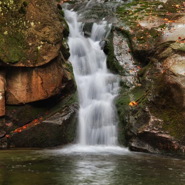 """""""Podgornej Waterfall in Przesieka"""" stock image"""