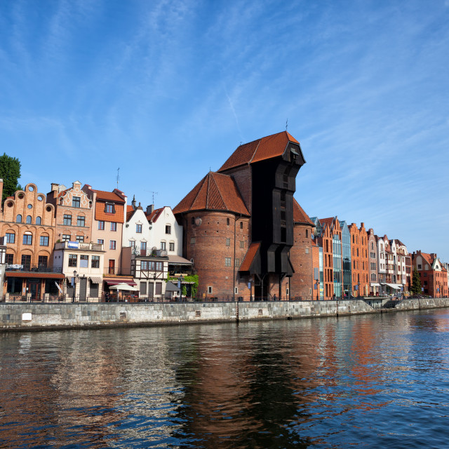"""City of Gdansk in Poland"" stock image"