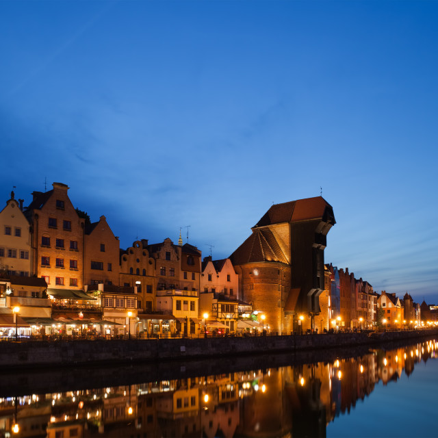 """Old City of Gdansk at Twilight"" stock image"