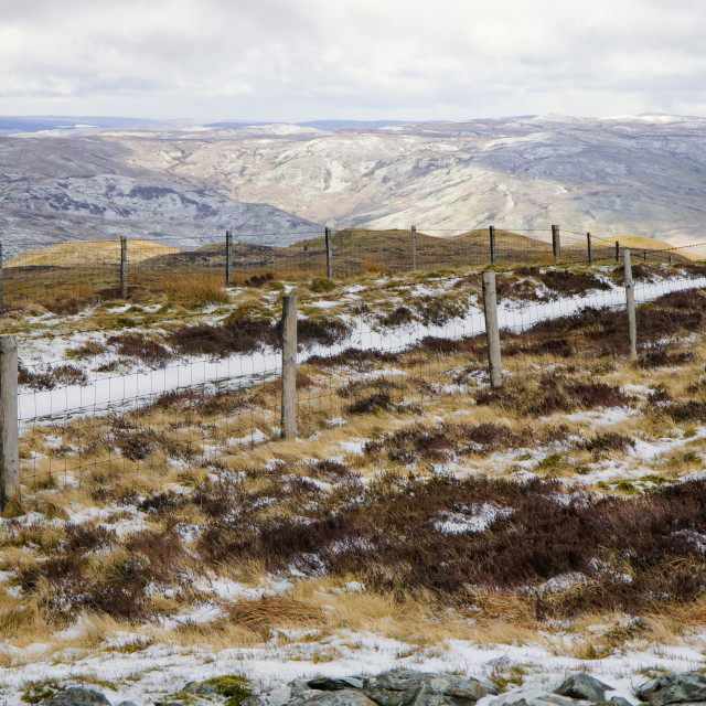 """""""View from Pen y Garn"""" stock image"""