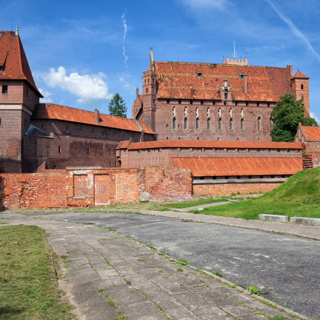 """Malbork Castle in Poland"" stock image"