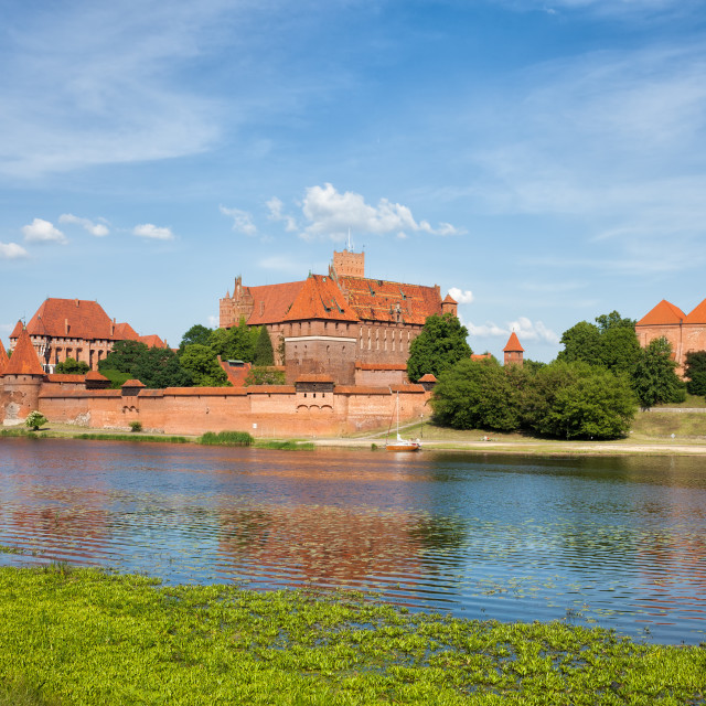 """Malbork Castle at Nogat River"" stock image"