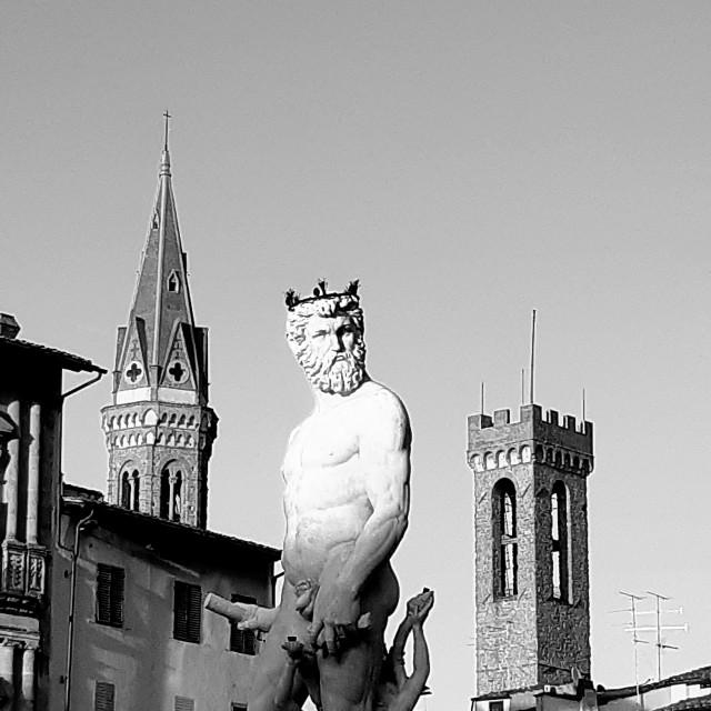 """Fontana di Nettuno"" stock image"