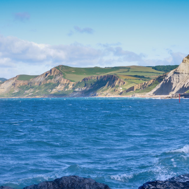 """""""Eype from the pier"""" stock image"""